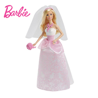 Genuine Barbie Doll Toys Pink Bride Barbie Clothes Wedding Necklace Barbie Accessories Educational Toy Birthday Gift