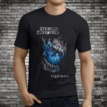 368354c0aea Camisetas de marca de ropa divertido T camisa corta vengado siete veces A7X  pesadilla de la