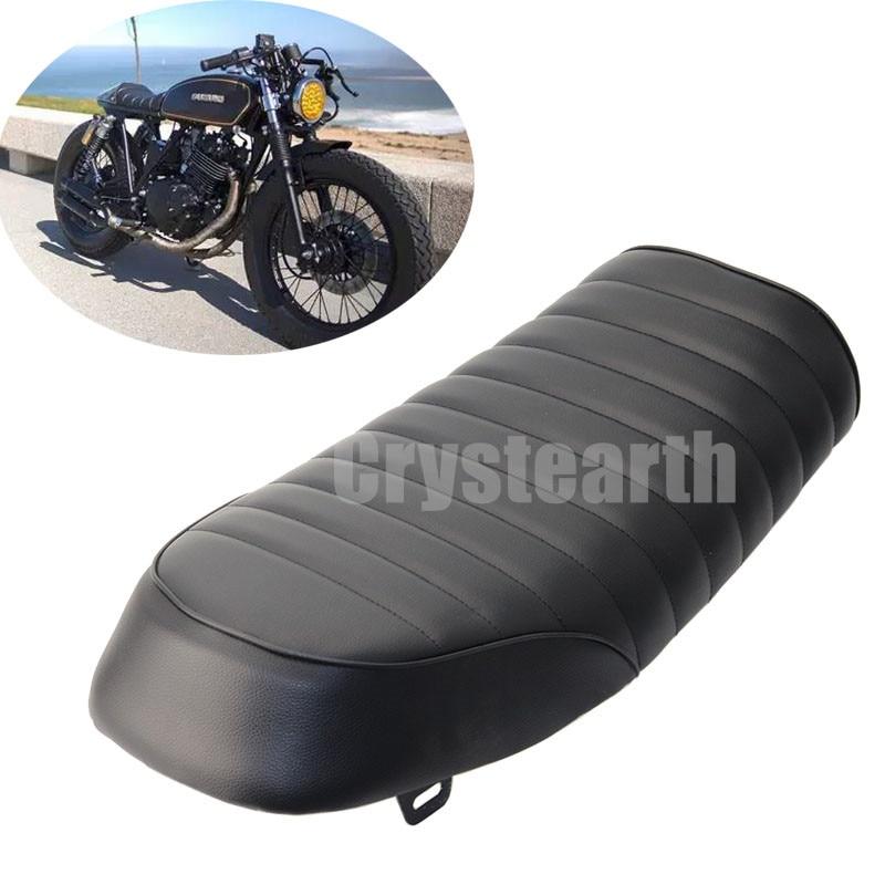 Мотоцикл черный старинные кафе гонщик сиденья Ретро седло для Honda CB200 CB350 СВ400 CB500 CB550 CB750