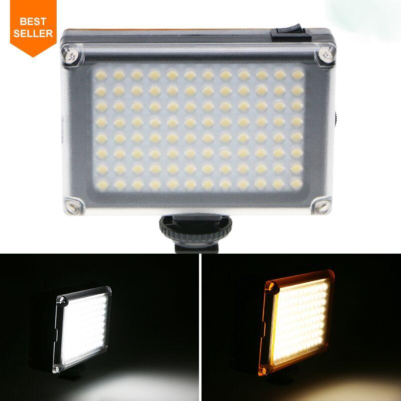 96 LED Phone Video Light Photo Lighting on Camera Hot Shoe LED Lamp for iPhoneX 8 Camcorder Canon/Nikon DSLR Camera Live Stream