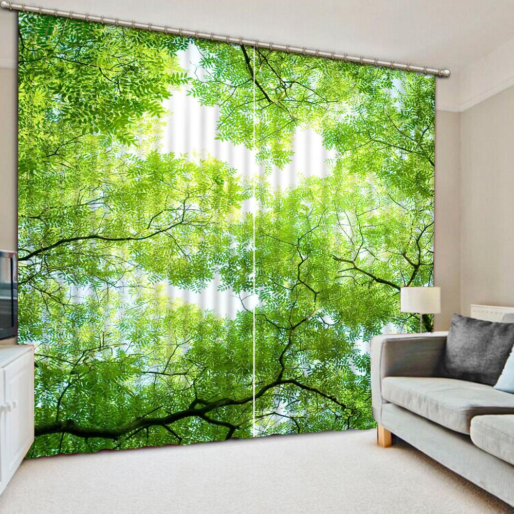 Blackout curtain Luxury Blackout 3D Window Curtains For Living Room Bedroom Customized size green forest curtainsBlackout curtain Luxury Blackout 3D Window Curtains For Living Room Bedroom Customized size green forest curtains