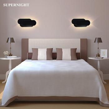 Led lâmpada de parede 18 w acrílico arandela luz 110 v 220 v decoração para casa iluminação do corredor sala estar quarto cabeceira parede luz
