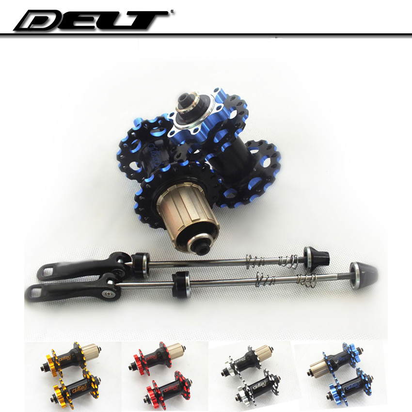 Mountain Bike (MTB) DH bicycle hub 32H for disc brake rotor 2/4 bearing quick Skewer 1 pair ultralight bearing hubs mtb mountain bicycle hubs 32 holes 4 bearing quick release lever mountain bike disc brake parts 4colors