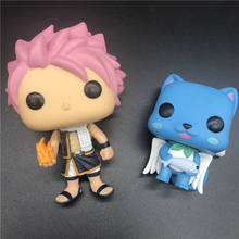 pops Anime Fairy Tail Happy /NATSU model toy Vinyl Action Figure Collectible Model Toys no Box good smile anime pvc 1 7 fairy tail natsu dragnir action figure natsu dragneel model toy decoration collections men gift 23cm