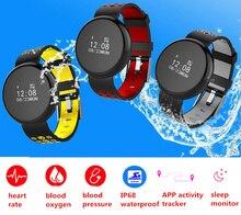 Freqüência Cardíaca Inteligente Braçadeira Quilometragem Smartband Atividade Rastreador Bluetooth para Iphone Huawei Bandagem de Pressão Arterial Relógio Feminino Masculino