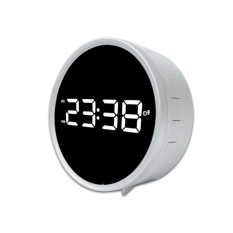 2017 Digital LED Clock FM Radio Snooze Function Alarm Clock Table Watch Timer Display Double Ring