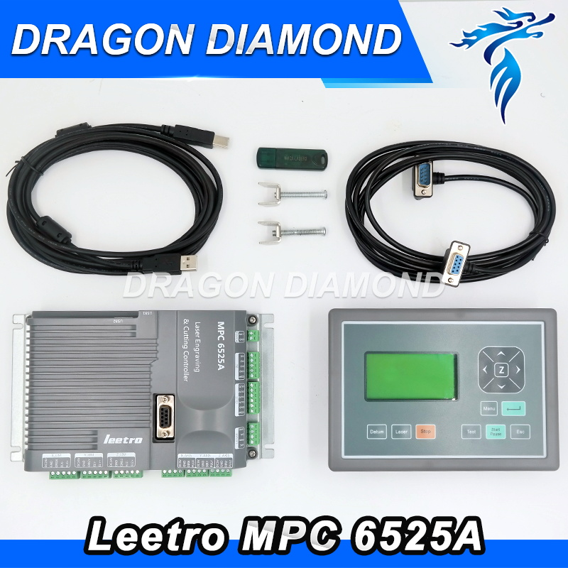Leetro laser controller mpc6525(6515) Co2 laser engraving cutter machine control system
