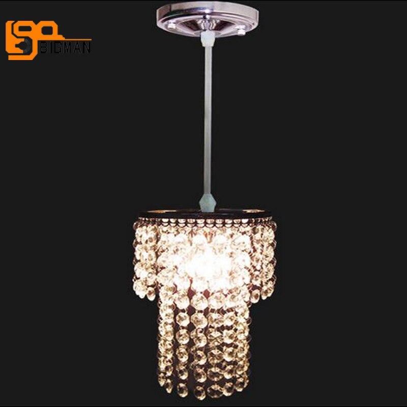 small crystal pendant light modern pendant lamps lustre dinning room luminaire bar light, diameter 20cm