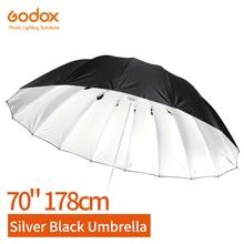 Godox Studio Photogrphy 70 дюймов 178 см серебристый черный светоотражающий зонт для студии световой зонт
