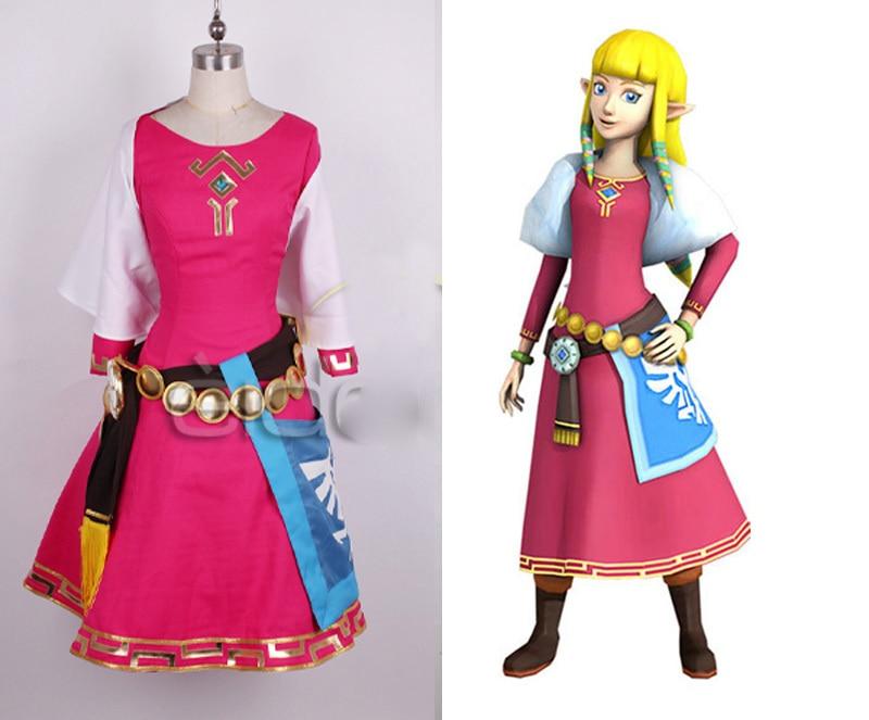 Us 108 73 The Legend Of Zelda Skyward Sword Zelda Women Cosplay Dress Princess Zelda Costume Christmas Adult Kids Costumes Custom In Game Costumes