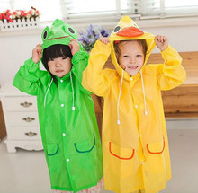 1pcs/lot children Raincoat Animal Rain Coat Rainwear Rainsuit Kids Waterproof Raincoat Children's cartoon poncho Free Shipping
