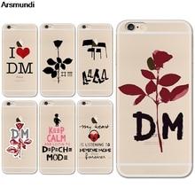 Arsmundi 2018 Новый Depeche Mode Телефонные чехлы для iphone 4S 5C 5S 6 6 S 7 8 Plus x Crystal Case ясно Мягкие TPU крышка Чехол