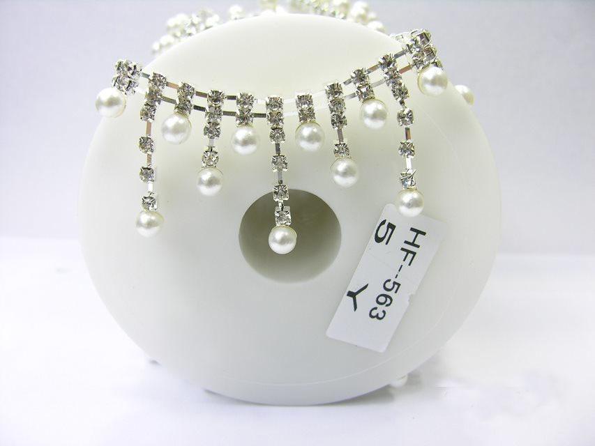 2528f4a5cf89 DIY 5 Cour Cristal Perle En Verre Strass Argent Applique Nuptiale De  Déguisement Garniture À Coudre Parage Applique Tasse Chaîne RC-1142