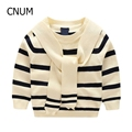 Hot Sale Kids Fashion Sweater Baby Boys Sweater Children Autumn Winter Spring Sweater Kids Striped Printed Sweater  kids cloth