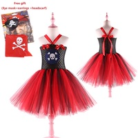 New Girls Ballet Princess Dress Festival Party Pirate Cosplay Costume Sleeveless Fashion Girls Christmas Dress 3 to 11 years old