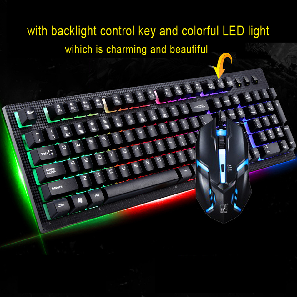 gaming keyboard and mouse combo backlight led pro set wired 104 suspended keyboard multimedia. Black Bedroom Furniture Sets. Home Design Ideas
