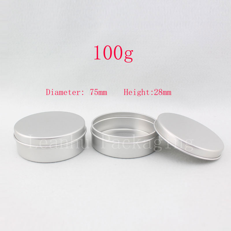100g aluminum round empty canning jar tin containers aluminum storage container candle tin tea container 50pc
