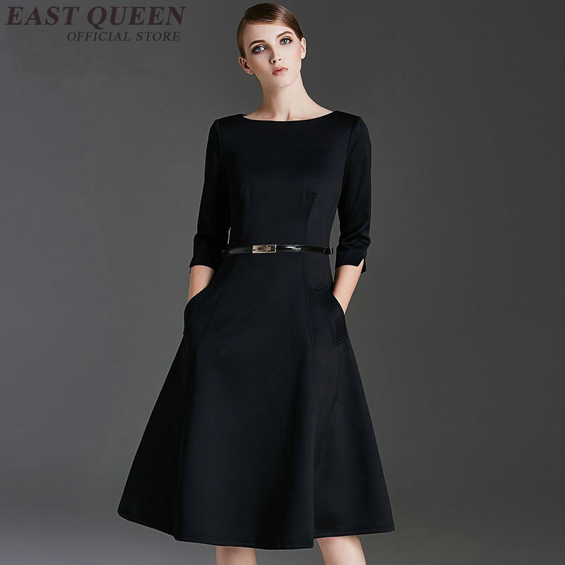 Ladies spring autumn women dresses elegant tunic bodycon business dress women A-line office knee-length o-neck dress DD335 F цена