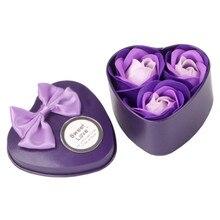 Практические 3 шт. сердце Ароматические ванны тело в виде лепестков розы мыло Свадебные украшения подарок подарки для Роскошная ванная