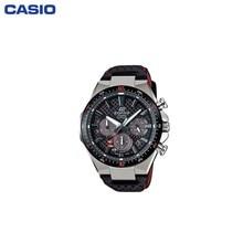 Наручные часы Casio EFS-S520CBL-1A мужские с кварцевым хронографом на кожаном ремешке