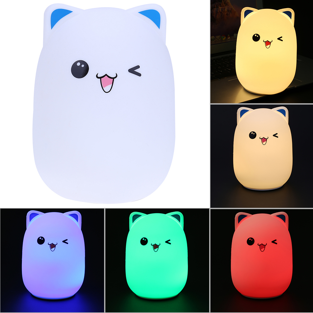 Cute Silicone Bear LED Night Light Bedside Lamp Luminaria Children Toy Bed Lamp Sleeping Night Lamp Bedroom Decoration Kids Gift 3d led desk lamp football sport night light for soccer bedside nightlight gift luminaria bedroom lighting reading children lamp