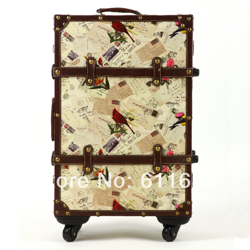 Vintage travel bag trolley luggage suitcase luggage 14 20 22 ...