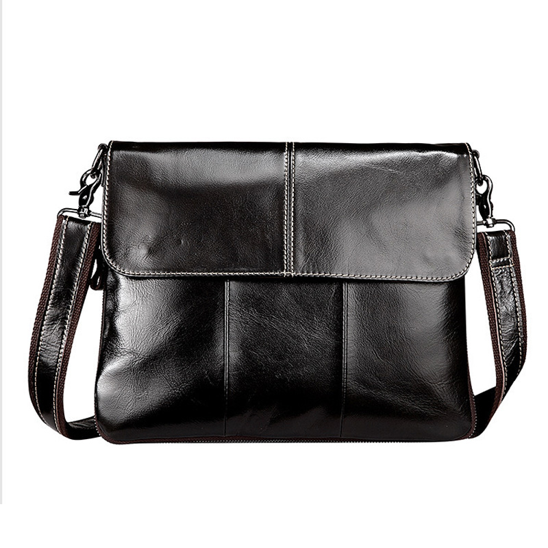 YISHEN Cowhide Genuine Leather Men Bags Male Shoulder Crossbody Bags Solid Business Messenger Bags Male Casual