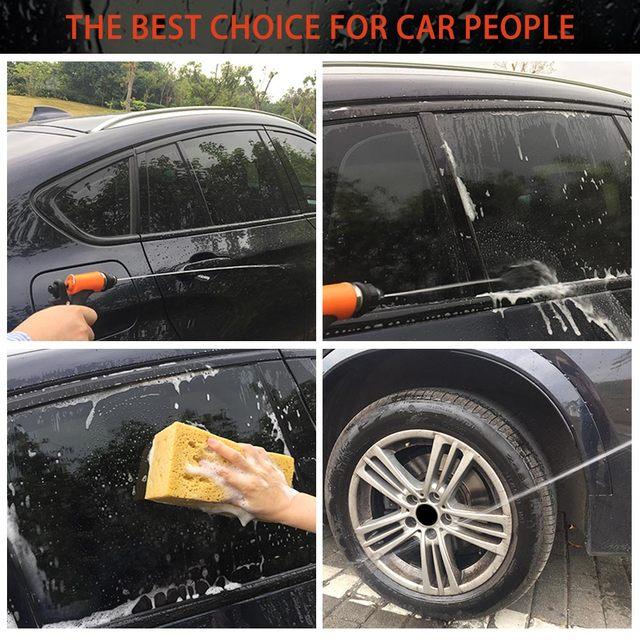 Car Washer Gun Pump12V High Pressure Cleaner Care Electric Washing Machine Auto Car Wash Maintenance Tool Accessories