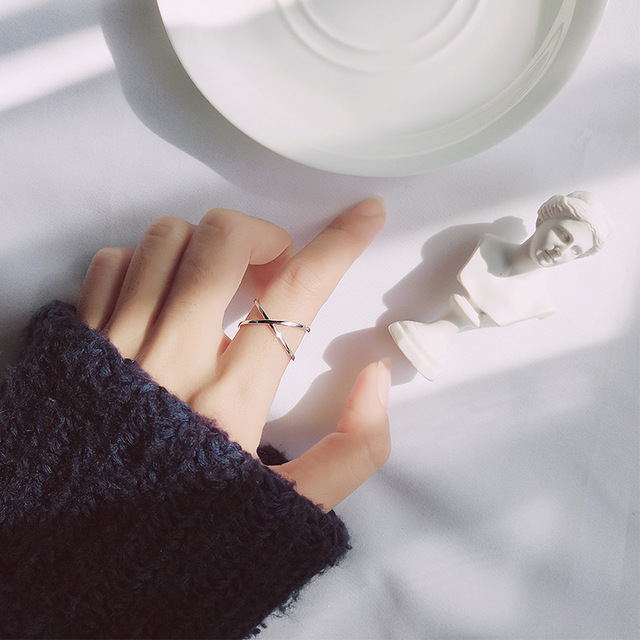 Hollow X Sterling Silver Ring