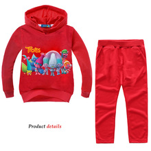 Z&Y 2-14Years Fantasia Trolls Party Girls Clothing Kids Teens Clothes Sweatshirts for Outfits Casual Sport Suits Nova