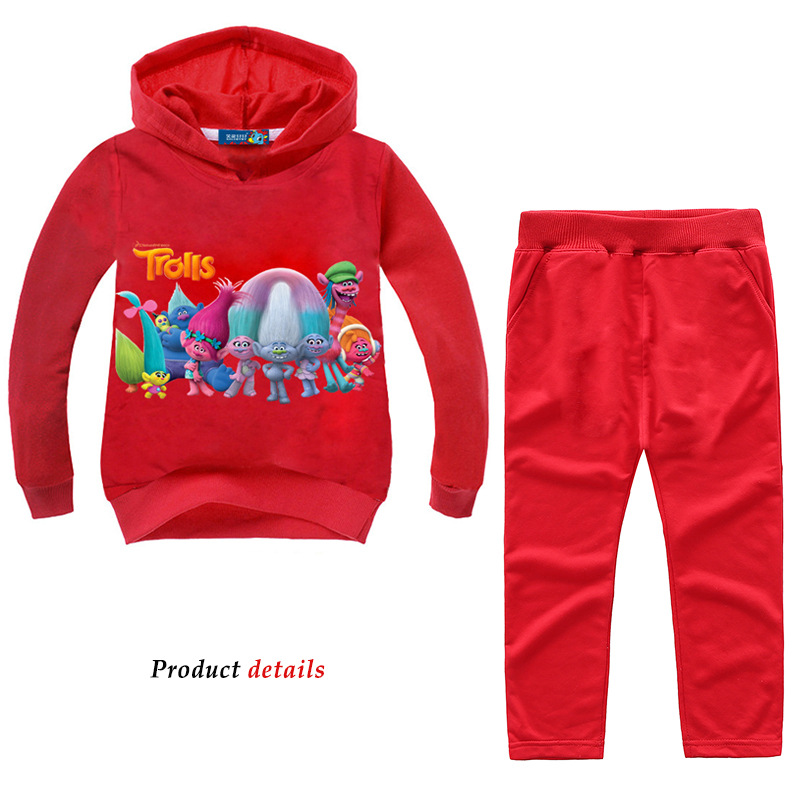 Z&Y 2-14Years Fantasia Trolls Party Girls <font><b>Clothing</b></font> Kids Teens Clothes Sweatshirts for Girls Outfits Kids Casual Sport Suits <font><b>Nova</b></font> image