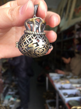 Complimentary rope, China Handwork brass bronze carving cornucopia fengshui treasure pendant necklace metal handicraft 12 7 inch handwork boxwood carving china traditional classical peach shape shelf