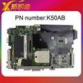 Para asus k50ab laptop motherboard k40ab rev 2.1 mainboard f ddr2 completo testado