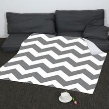 Modern Simple Digital Printed Corrugated Blanket Flannel Vintage Throw