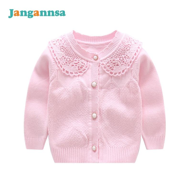 O-Neck Knitted Cotton Baby Girls Sweater Long Sleeve Infant Sweaters Girls Cardigan Coat 2017 Baby Girls Clothing alfani women s long sleeve marilyn cowl neck tunic sweater emerald 2x