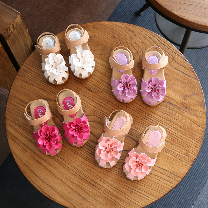 Children Sandals Shoes Kids Girls Sandals With Flower Baby Sandals Shoes Infant Toddler Shoes For Girls Princess Sandals