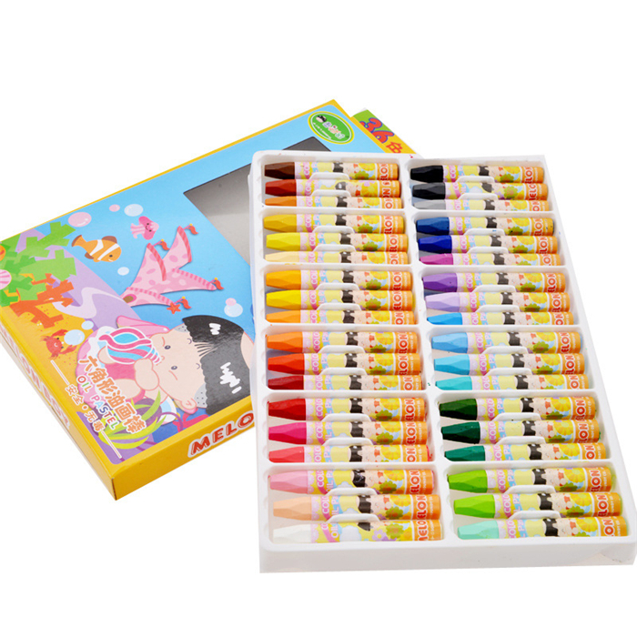 36 colors set colored paint pen washable drawing wax crayon art