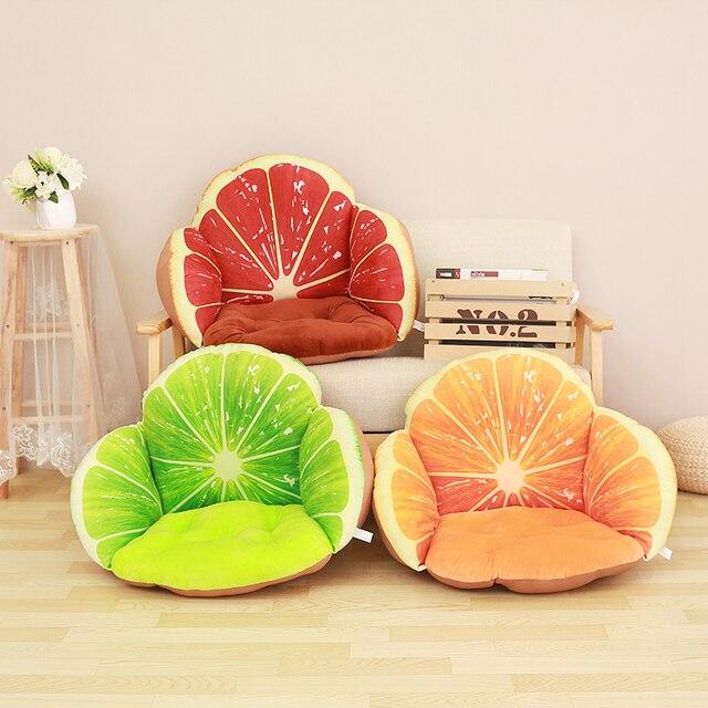 Оптовая продажа декоративные подушки сиденья на стулья 12 Цветов домашнего декора фрукты подушки, cojines decorativos