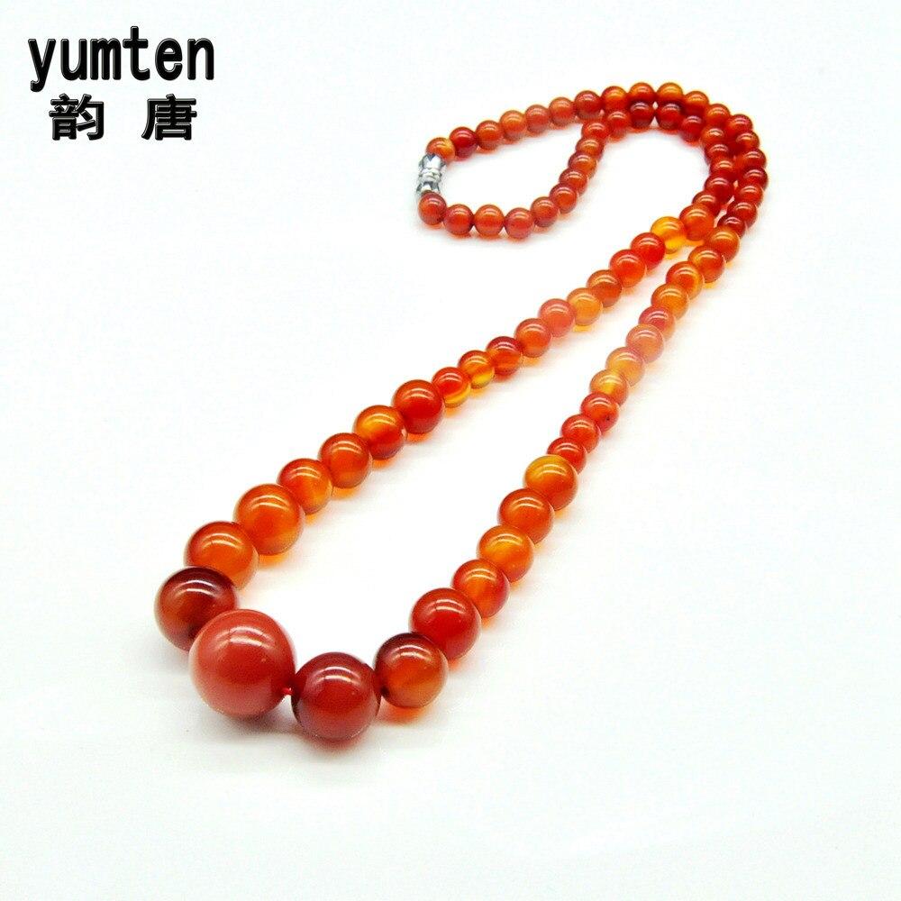 Yumten Onyx kaklaraištis karoliai Dames rinkimas brangakmenių žavesio trumpas skyrius išskirtinis pakabukas romantiškas berloque gintaras natūralus klasikinis