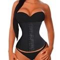 4 Deshuesado Acero Torso Largo mujeres venta caliente de la manera más tamaño entrenador cintura de underbust corset bustier cincher de la talladora