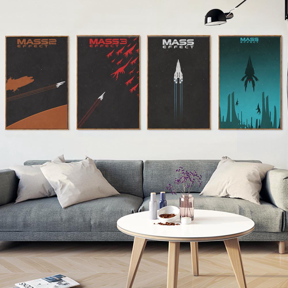 Mass Effect Wall Art Paint Wall Decor Canvas Prints Canvas Art Poster Oil Paintings No Frame(China)