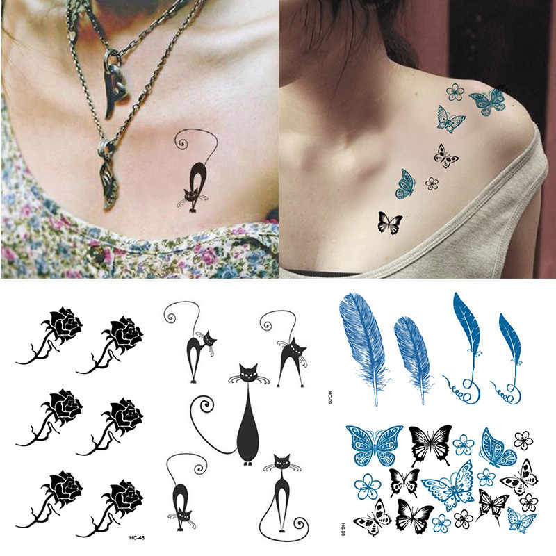 1 Pcs 105* 60mm Durable Lightweight Tattoo Stickers Flash Henna Tattoo Fake Waterproof Weat-proof Temporary Tattoo Stickers