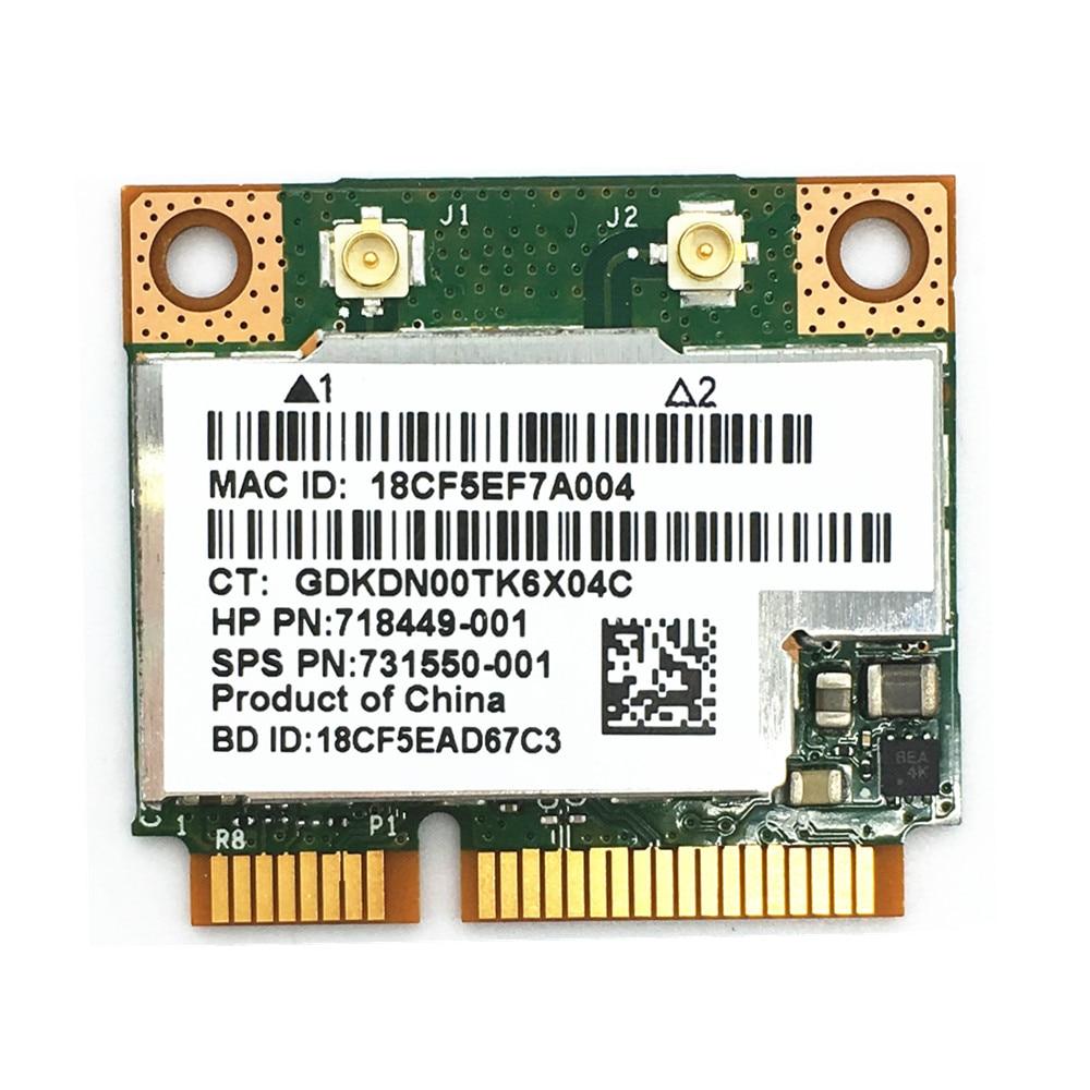 Broadcom BCM943228HMB BCM43228 Half Mini PCI-e Wlan Wireless BT Bluetooth 4.0 Card 300M For 210 G1/820 G1