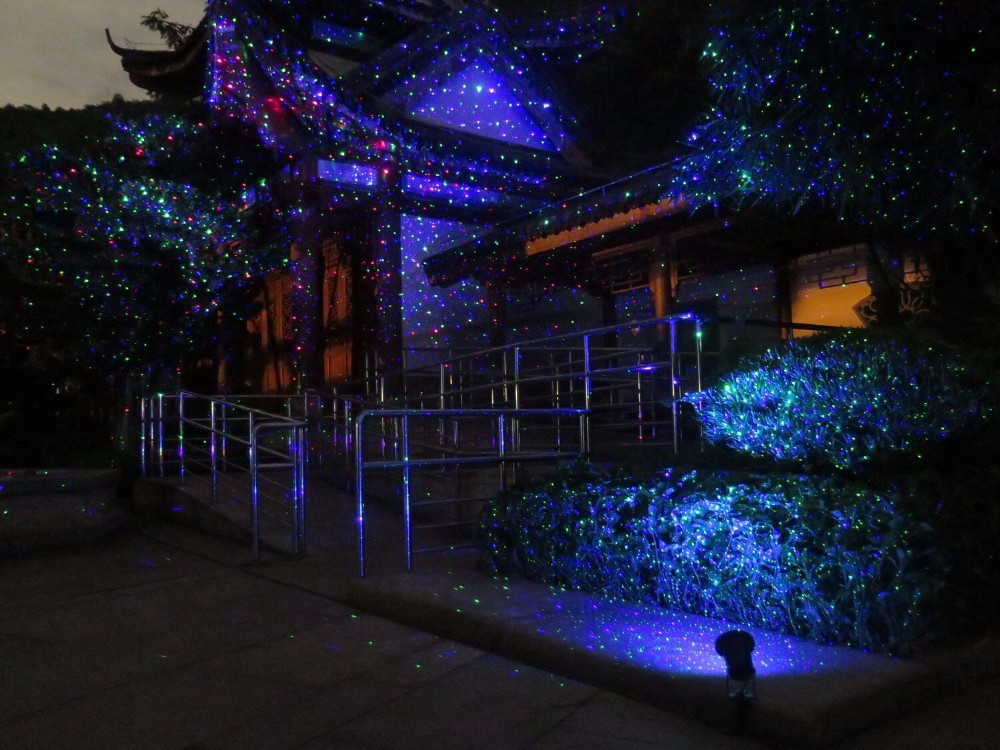 16 new products ip 65 outdoor christmas star projector laser light shower moving twinkle rgb light
