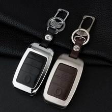 Zinc Alloy Leather Car Key Cover Case For Kia Ceed Rio Sportage R K3 K4 K5 Ceed Sorento Cerato Optima 2015 2016 2017 Key Case