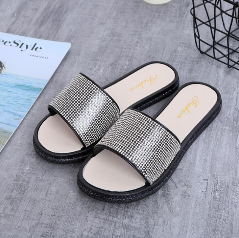 New Summer Women Slippers Soft Soles Non-slip Slippers Platform Sandals Beach Flip Flops Shoes Woman Outside Flat Slides M250 перфоратор аккумуляторный bosch uneo maxx li ion 18 в