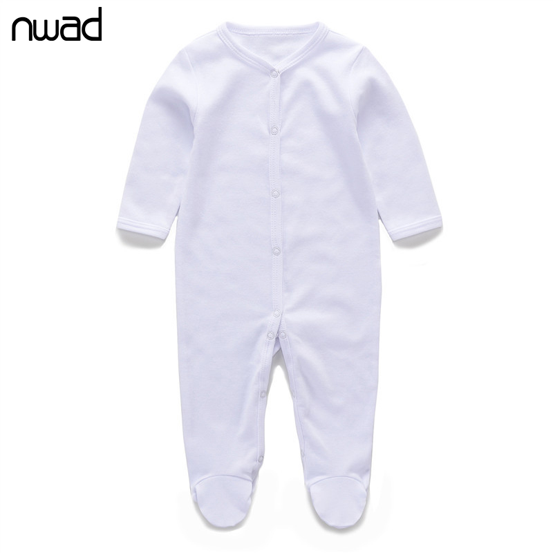 2017 New Baby Girl Boy Clothes Baby Rompers White Cotton Clothing Newborn Boys Girs Body Baby Infant Jumpsuit Kids Costume FF341 cotton newborn infant baby boys girls clothes rompers long sleeve cotton jumpsuit clothing baby boy outfits