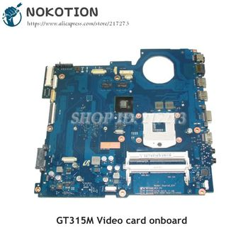 NOKOTION For Samsung NP-RV411 RV411 Laptop Motherboard BA41-01423A BA92-07395A BA92-07395B DDR3 GT315M Video card