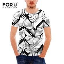FORUDESIGN casual tshirt fashion patchwork t shirt men high quality male t-shirt short sleeved camisetas slim fit Tops & Tees