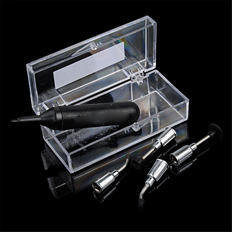 Anti-static Mini SMT/ SMD IC Chip BGA Vacuum Pump Suction Pen + 4 Different Nozzels Vacuum picker nflc needle head ic smd picker vacuum black sucking pen w suction header